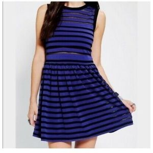 UO Silence and Noise Striped Skater Dress